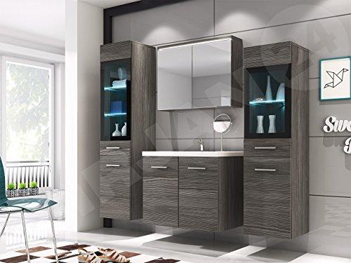 badm bel set udine ii mit waschbecken und siphon modernes. Black Bedroom Furniture Sets. Home Design Ideas